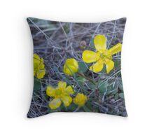 Sagebrush Buttercup Throw Pillow