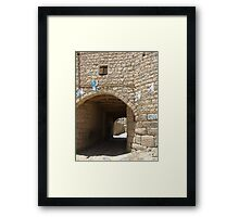 Symbols on the wall (27) - Amran town gate Framed Print