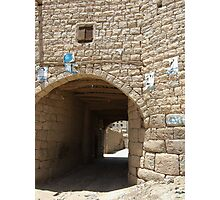 Symbols on the wall (27) - Amran town gate Photographic Print