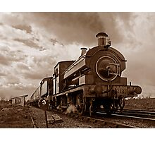Steam train passing in Sepia Photographic Print