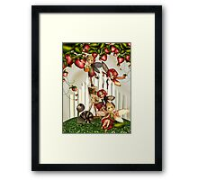 Painting Under The Strawberry Bush Framed Print