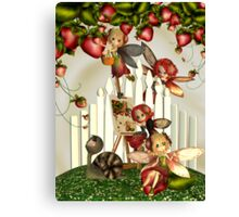 Painting Under The Strawberry Bush Canvas Print