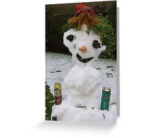 The Merry Ice Man Greeting Card