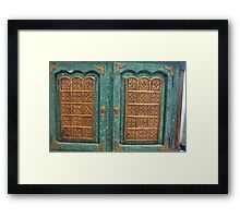 The Blue Cabinet  Framed Print