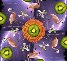 Mandala 10 lightning sometimes strikes twice by Bill Brouard