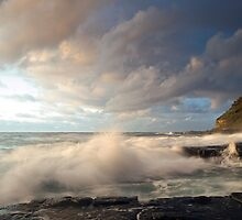 When Two Worlds Collide - Garie Beach NSW by Malcolm Katon