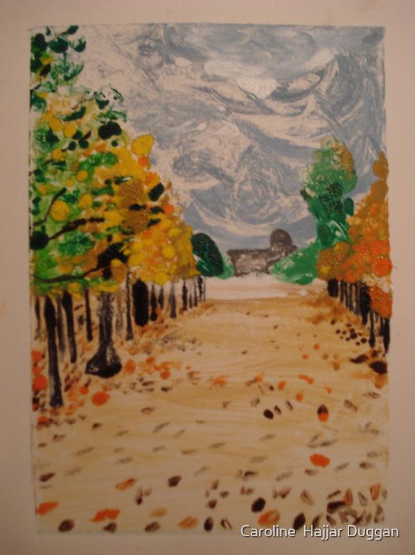Fall in Paris Print 1 of 2  by Caroline  Hajjar Duggan
