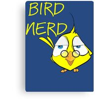 Bird Nerd Funny Ornithology T Shirt Canvas Print
