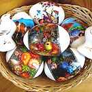 Still-life with Easter Eggs and porcelain birdies.          by kindangel