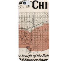 Chicago Map from 1871 after fire Restored iPhone Case/Skin