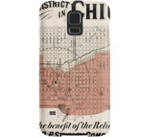 Chicago Map from 1871 after fire Restored Samsung Galaxy Case/Skin