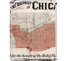 Chicago Map from 1871 after fire Restored iPad Case/Skin