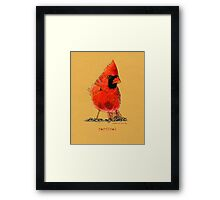 Cardinal in colored pencil  Framed Print
