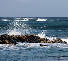 Waves, St Combs beach Aberdeenshire by Copperhobnob