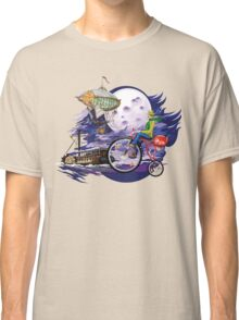 fly to the moon design t-shirt Classic T-Shirt