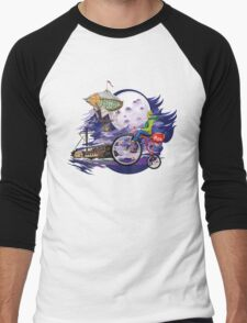 fly to the moon design t-shirt Men's Baseball ¾ T-Shirt