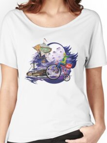 fly to the moon design t-shirt Women's Relaxed Fit T-Shirt