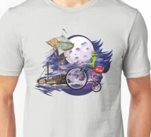 fly to the moon design t-shirt Unisex T-Shirt