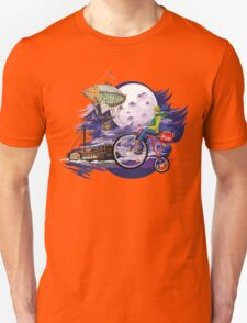 fly to the moon design t-shirt T-Shirt