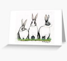 Three Bunnies Greeting Card