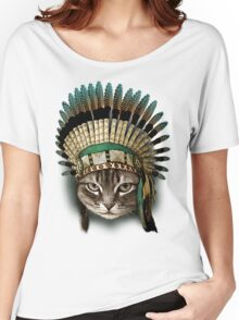 CHIEF CAT Women's Relaxed Fit T-Shirt