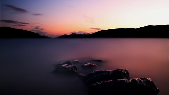 Loch Ness Sunset (Long Exposure) by Ben Luck