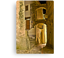 Streets of an Italian Village Canvas Print