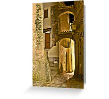 Streets of an Italian Village Greeting Card
