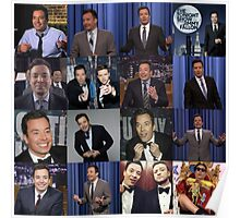 Jimmy Fallon Collage Poster