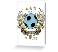 Manchester City Champions Greeting Card