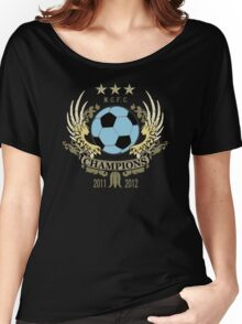 Manchester City Champions Women's Relaxed Fit T-Shirt