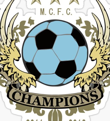 Manchester City Champions Sticker