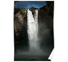 Snoqualmie Falls viewed from the end of the boardwalk Poster