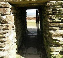 Druid Doorway - Grainan Of Aileach Fort -Donegal - Ireland by mikequigley