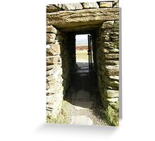 Druid Doorway - Grainan Of Aileach Fort -Donegal - Ireland Greeting Card