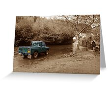Landrover vs the river Greeting Card