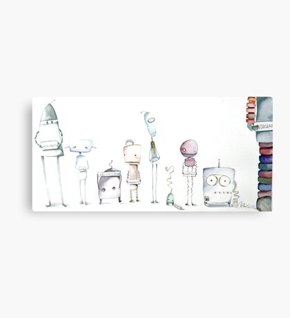 Robot Roll Call Canvas Print