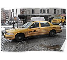 NYC Dented Taxi Poster