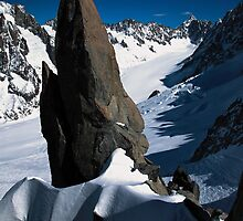 The Argentiere Glacier in the French Alps by John Gaffen