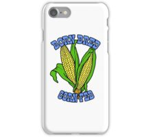BORN BRED CORN FED (light blue) iPhone Case/Skin