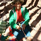 WOMAN IN PISAC MARKET / CUZCO by Christine Kradolfer