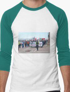 Anti austerity protest, Hastings Men's Baseball ¾ T-Shirt