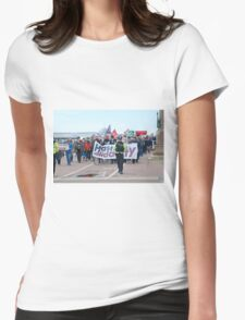 Anti austerity protest, Hastings Womens Fitted T-Shirt