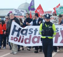 Anti austerity protest, Hastings Sticker