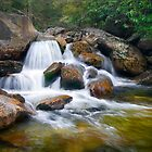 Blue Ridge Parkway Photography - Waterfall Cascade by Dave Allen