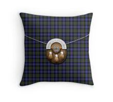 Highland Pride Of Scotland Tartan And Sporran Throw Pillow