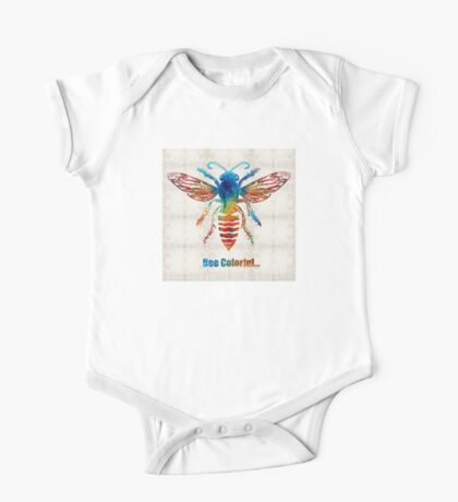 Bee Colorful - Art by Sharon Cummings One Piece - Short Sleeve