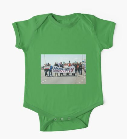 Austerity protest march, Hastings One Piece - Short Sleeve