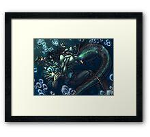 Merman and the seaman Framed Print