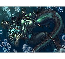 Merman and the seaman Photographic Print